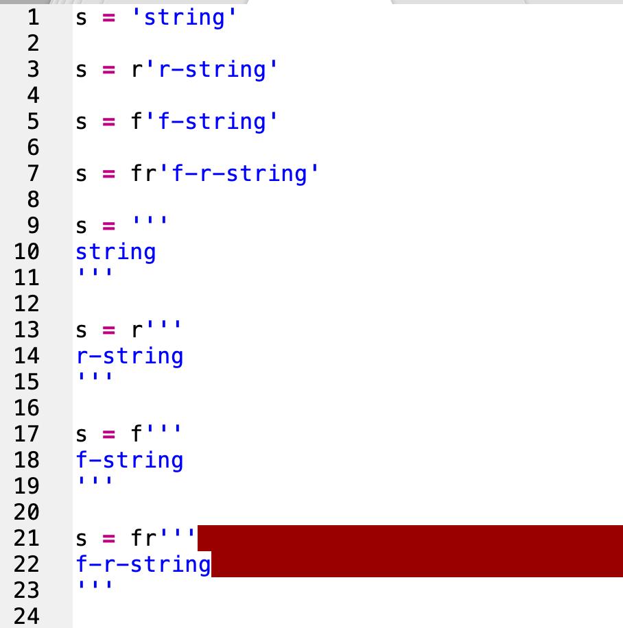 Python multiline/f string/r string syntax highlighting   Technical ...
