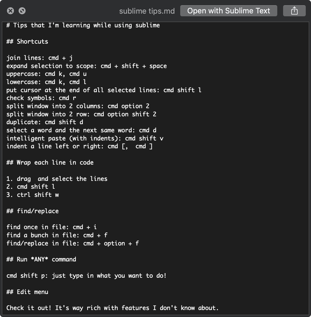 How do I get syntax highlighting via Quick Look on macOS