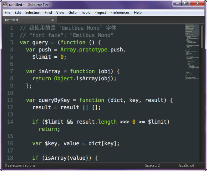 What is Sublime Text's default font face? - General