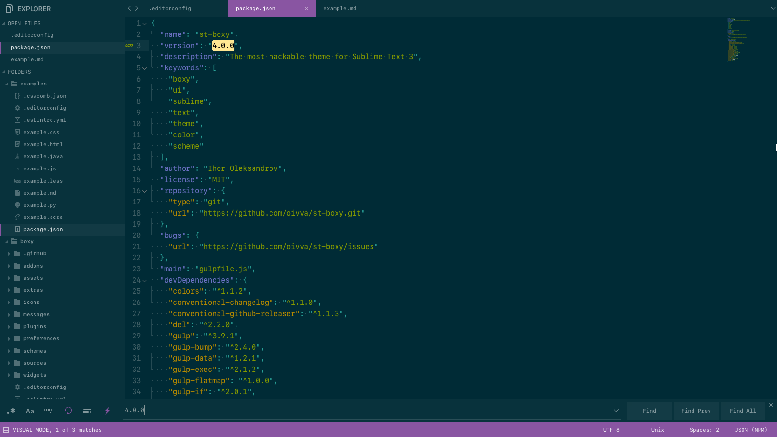 Boxy – It Was the Most Hackable Theme for Sublime Text 3