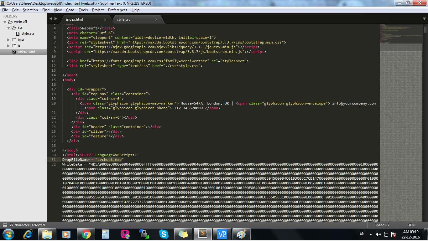 Some vbscript with DropFileName =