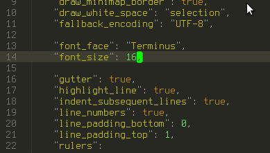 Terminus font size change - Technical Support - Sublime Forum