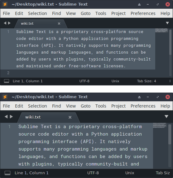 Font size and UI scale changes at startup (Linux