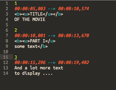 Directory movie sublime