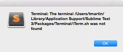 Open iTerm2 2 9 20160523 with sublime_terminal Package - Technical