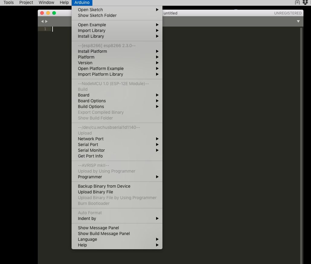 Arduino Sublime NodeMCU issue on macOS - Technical Support - Sublime