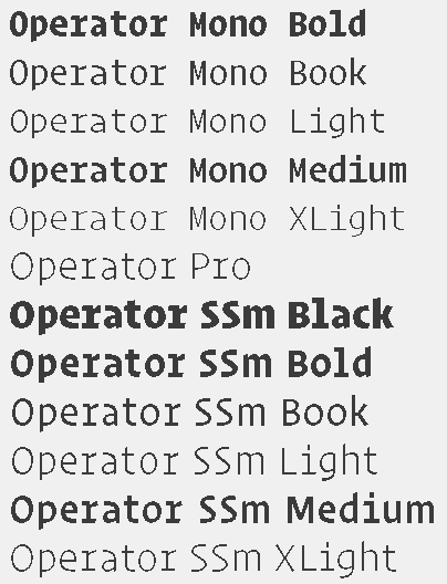 Madison : Operator mono ssm ttf