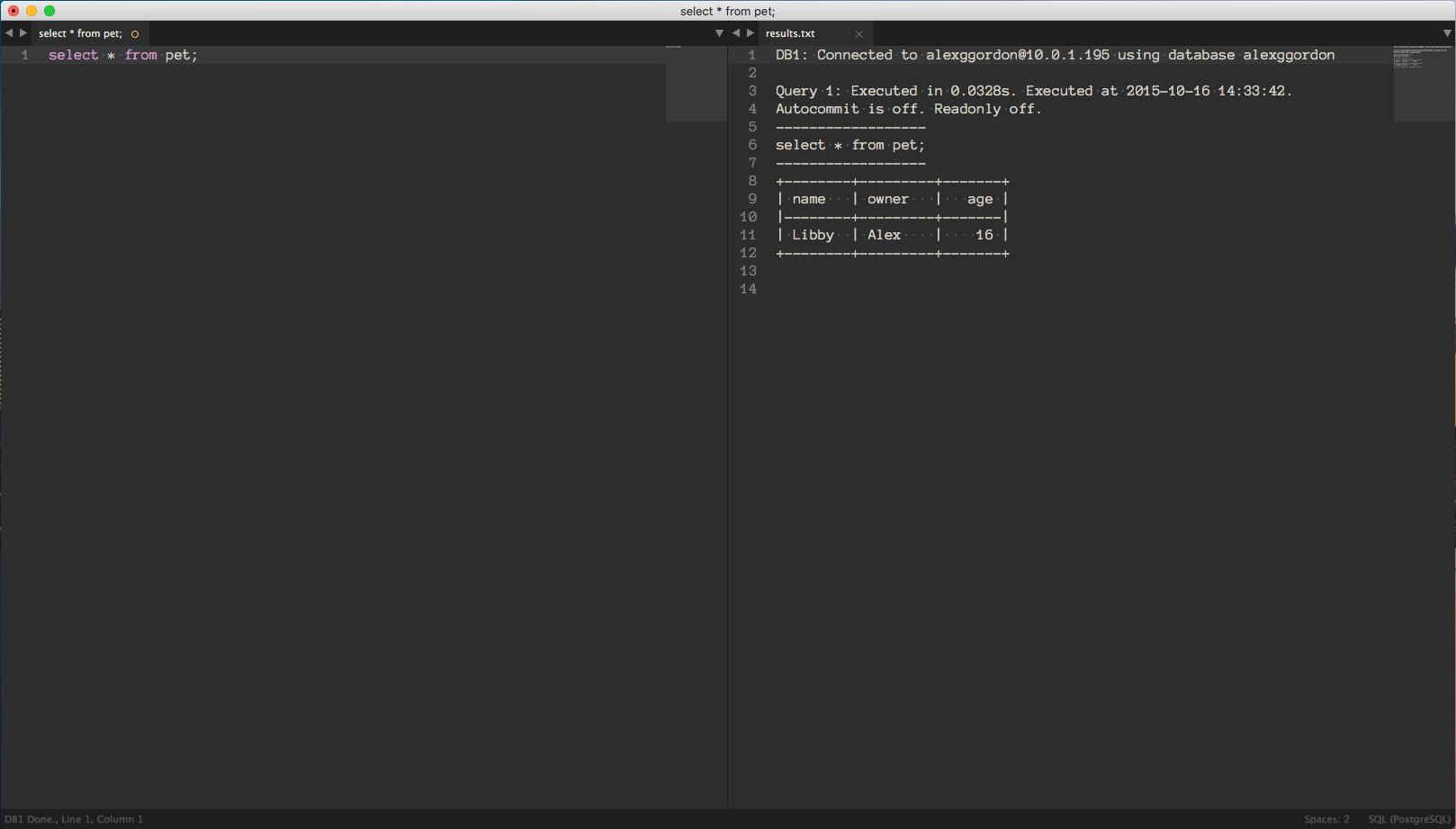 DB1: Sublime Text Database Client - Plugin Announcements - Sublime Forum