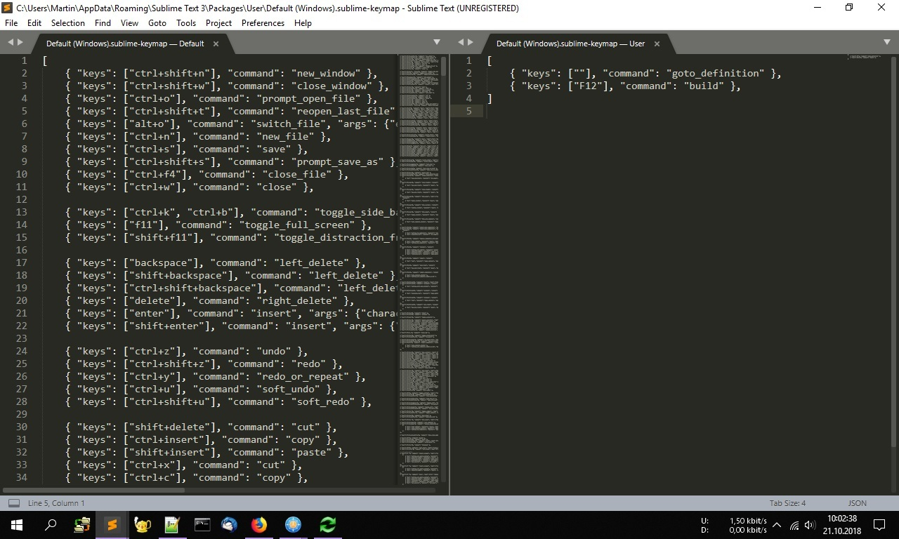 Unable to Change Keybindings - Technical Support - Sublime Forum