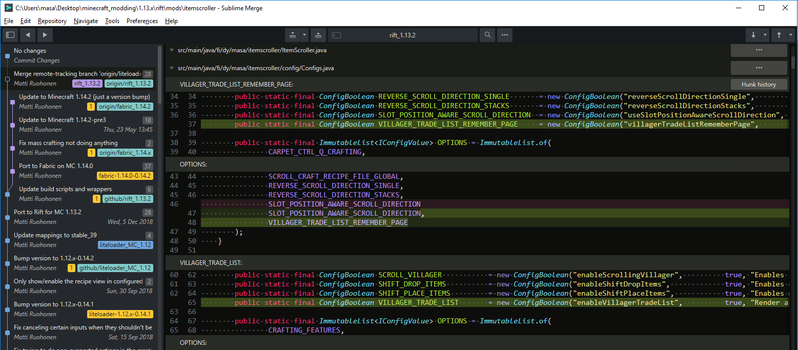 Willing to Compensate for a Custom Sublime Merge Dark Theme