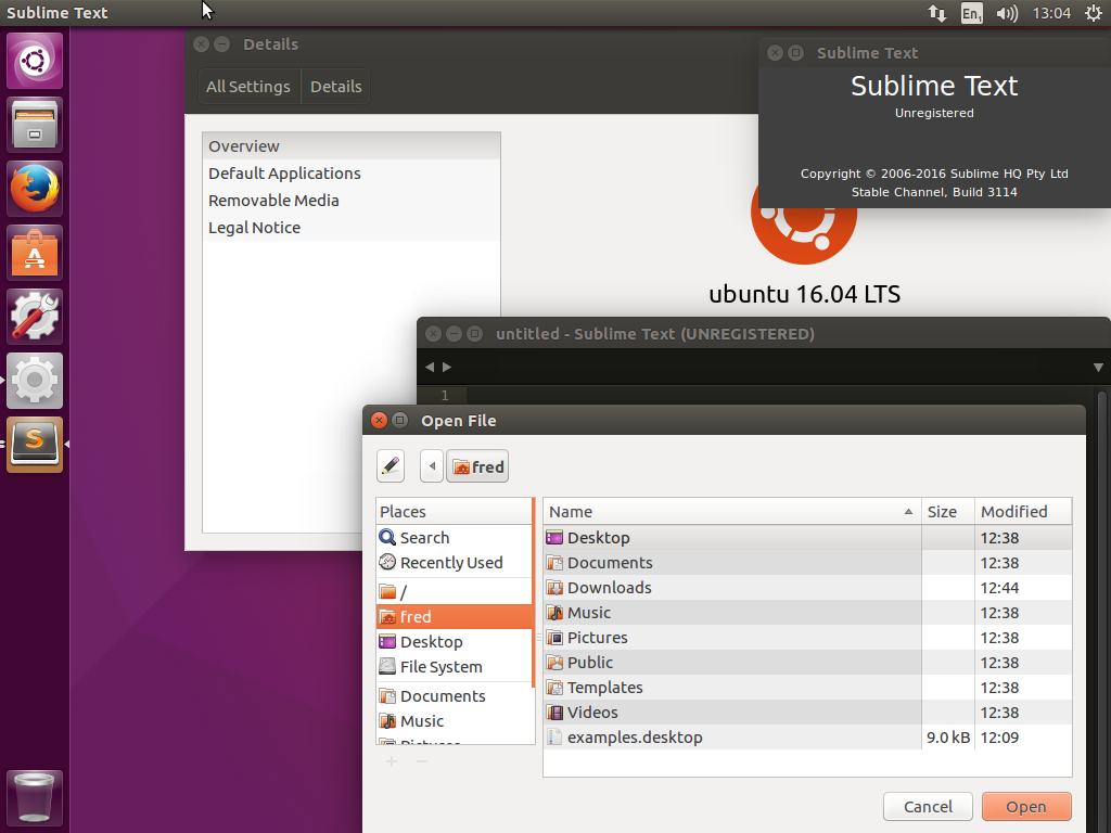 Sublime Text 3 - Ugly Dialog on Ubuntu 16 04 - Technical Support