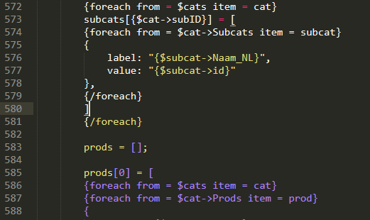 HTML/Javascript SYntax highlighting bugs with Smarty tags