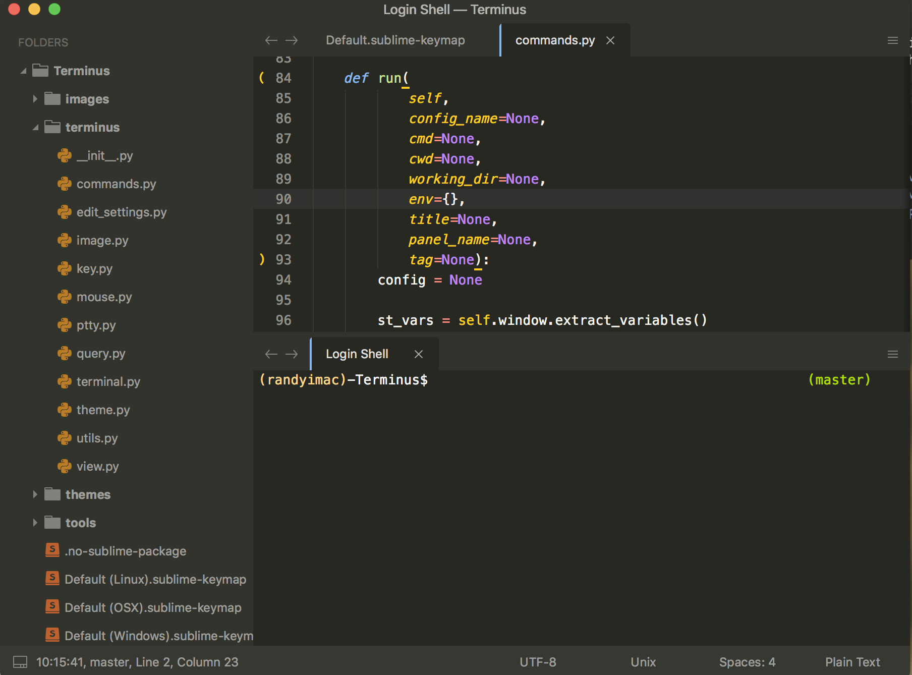 Terminal in Sublime (not as new tab) - Technical Support