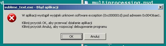 the exception unknown software exception
