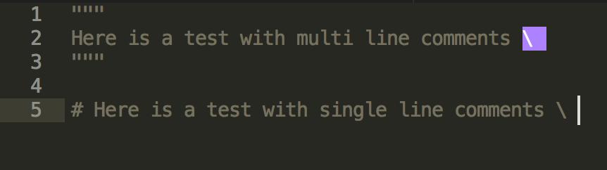 Weird python Syntax highlighting OSX - Technical Support