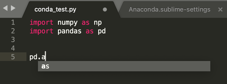 Sublime Anaconda Autocomplete not working - Technical